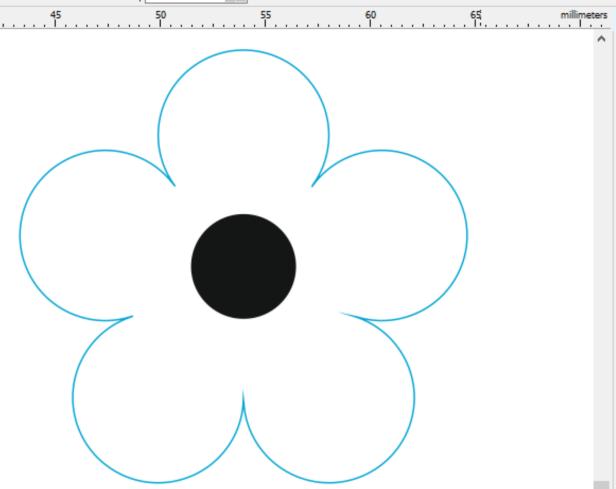 Marquetry flower design for laser cutter