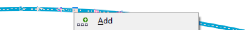 Screenshot of CorelDraw adding nodes to curve