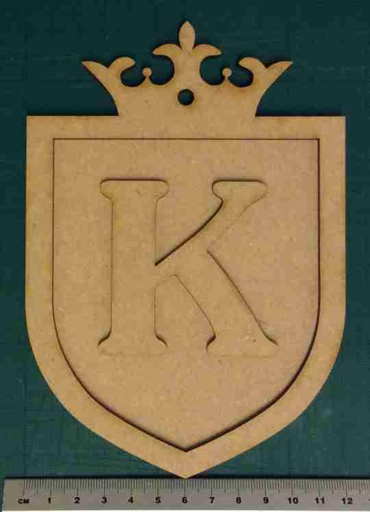 laser cut initial letter door shield plaque