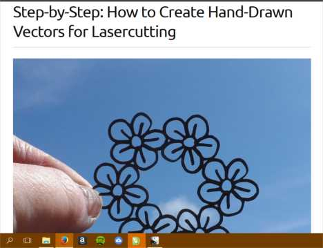 Screenshot from LaserSister tutorial