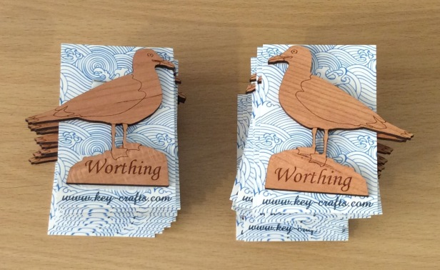 Worthing fridge magnets - seagulls