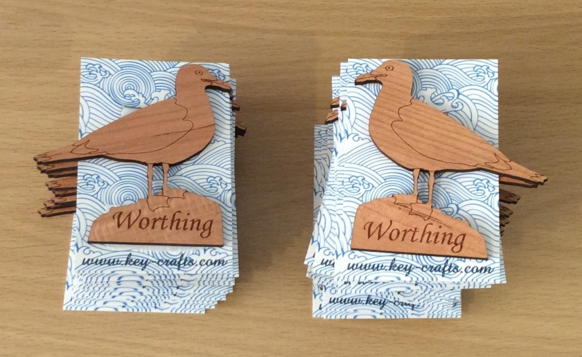 Worthing fridge magnets - seagulls