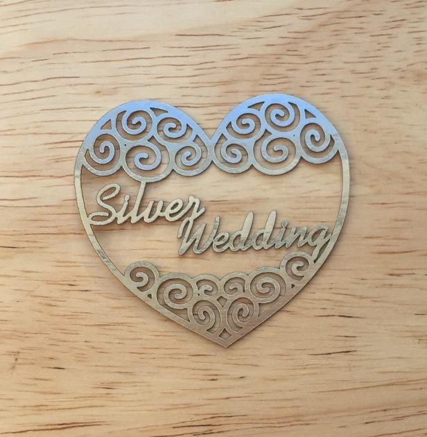 valentine silver filigree papercutting