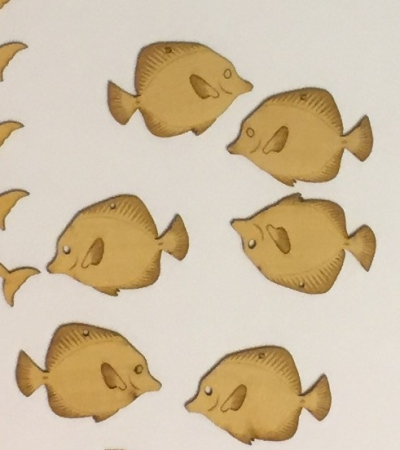 sea-themed laser cuts - tang fish for earrings