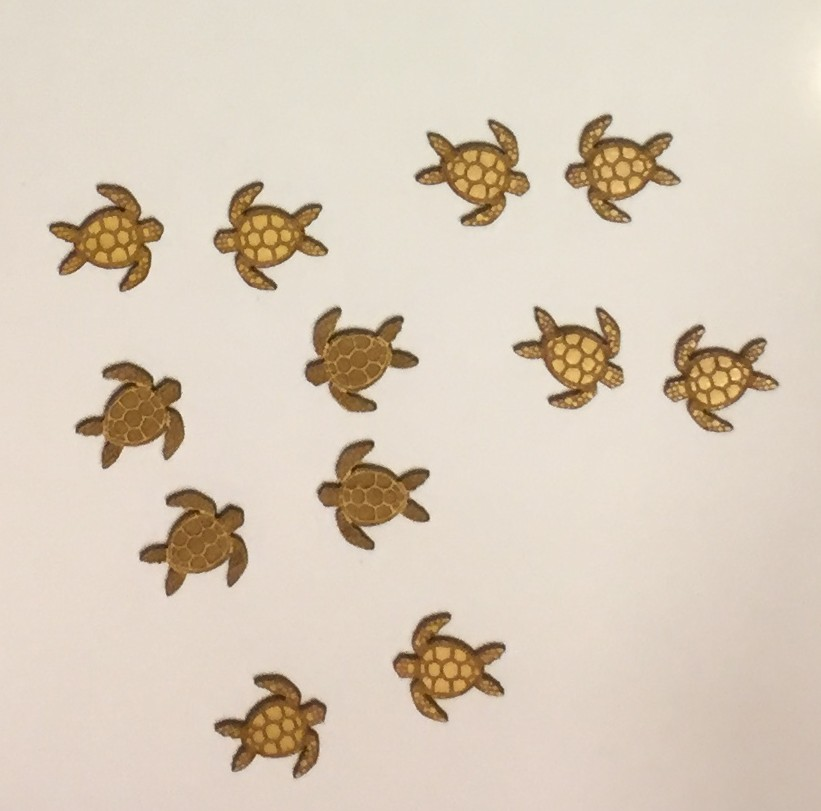sea-themed laser cuts - sea turtles for earrings