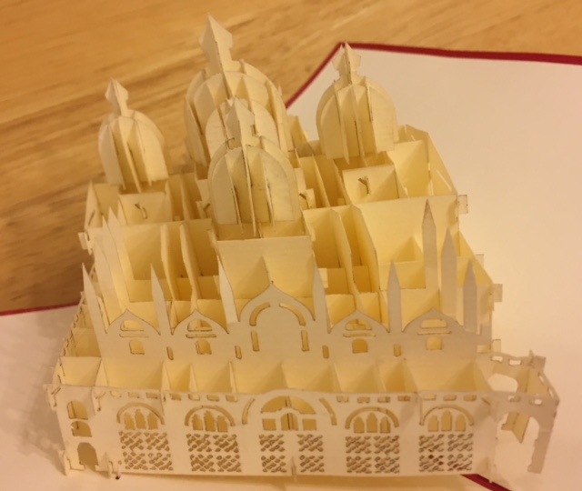 venice laser cut souvenir - close up
