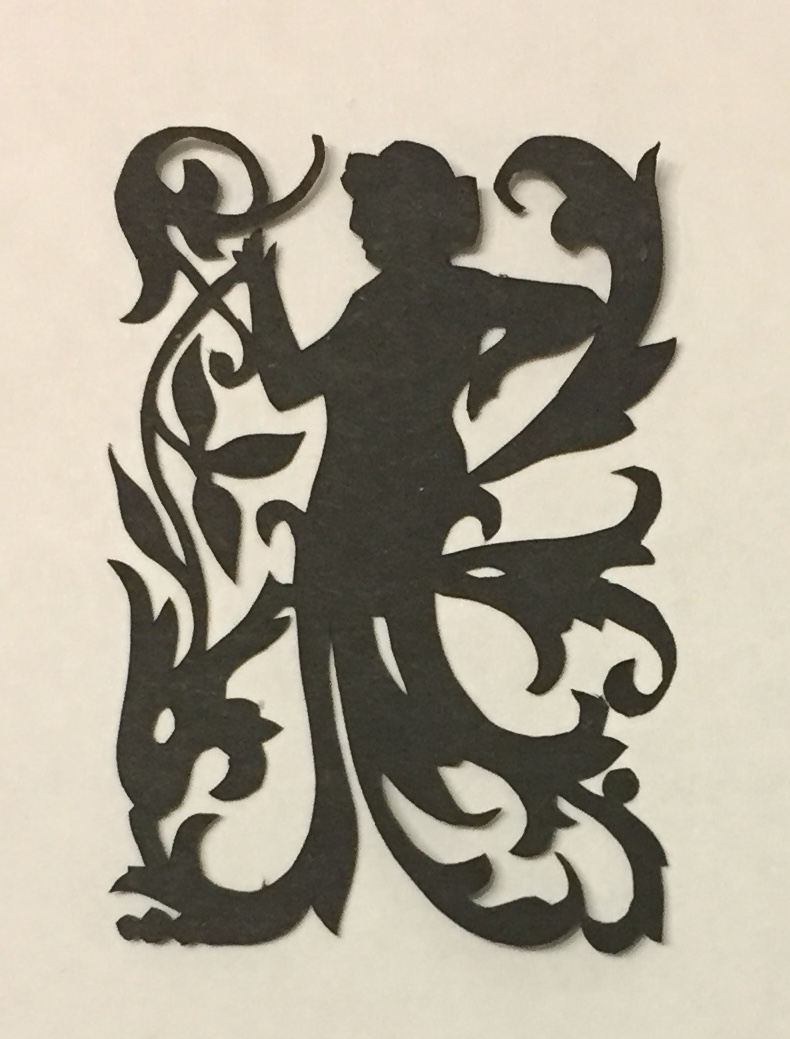 art nouveau papercutting - lady