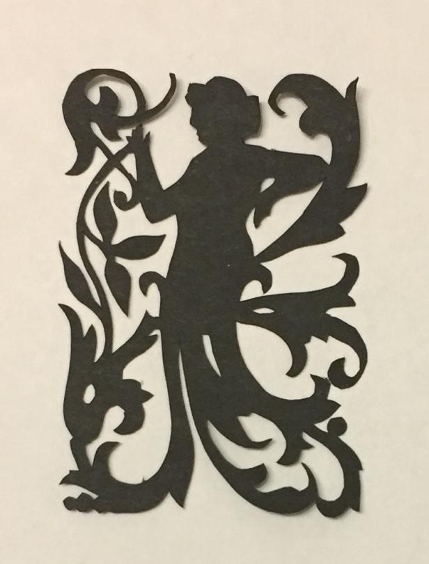 art nouveau papercutting - lady