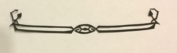 art nouveau papercuttings - edge design