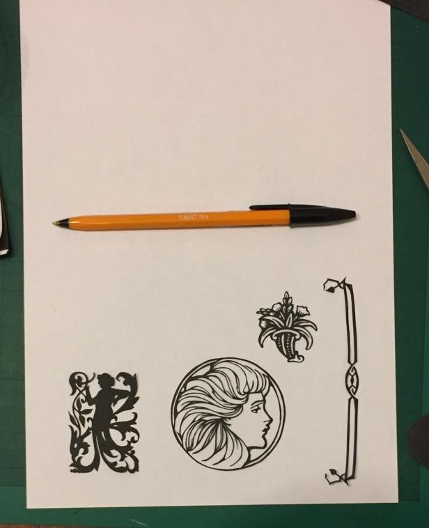 art nouveau papercuttings