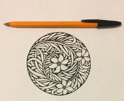 art nouveau style papercutting