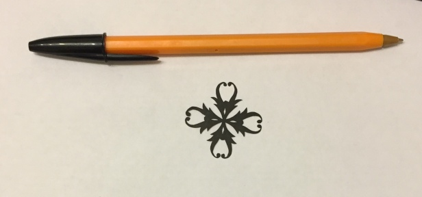 decorative vector ornament 004 with pen for scale