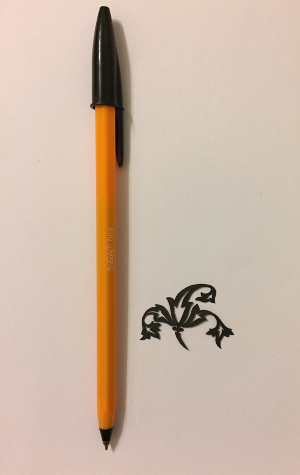 decorative vector ornament 005 with pen for scale