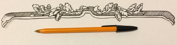 decorative vector ornament 006 with pen for scale