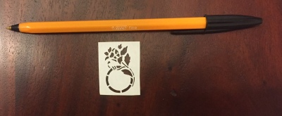 decorative vector ornaments papercutting 012 with pen for scale
