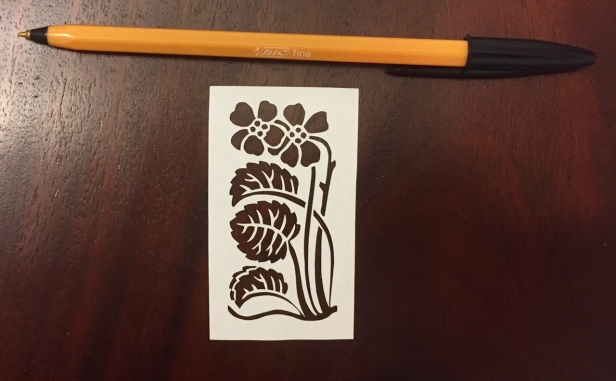 decorative vector ornaments papercutting 013 with pen for scale