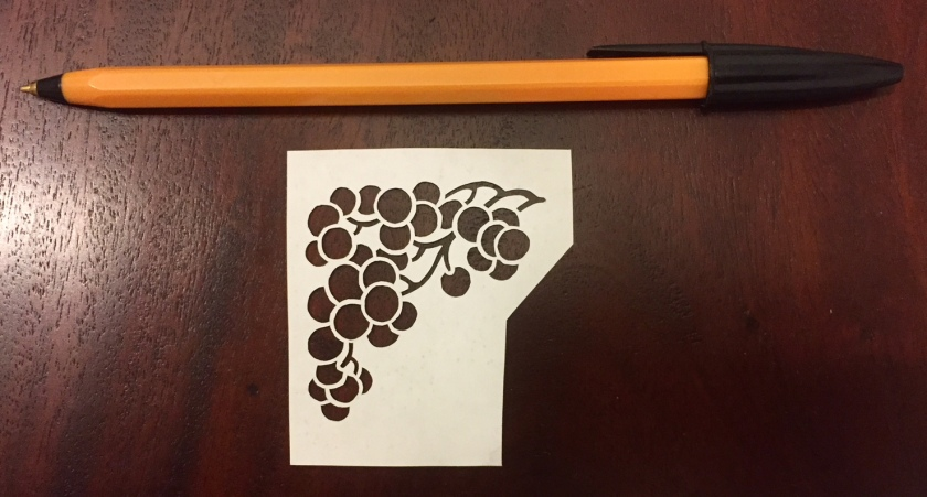 decorative vector ornaments papercutting 014 with pen for scale