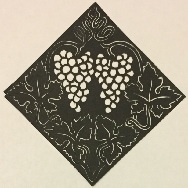Latest papercutting designs - grapes