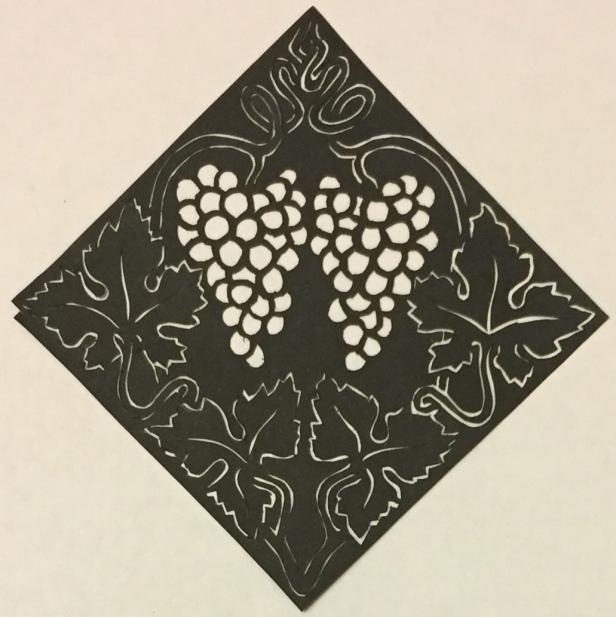 Latest papercutting designs - grapes
