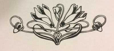 Latest papercutting designs - art nouveau flower