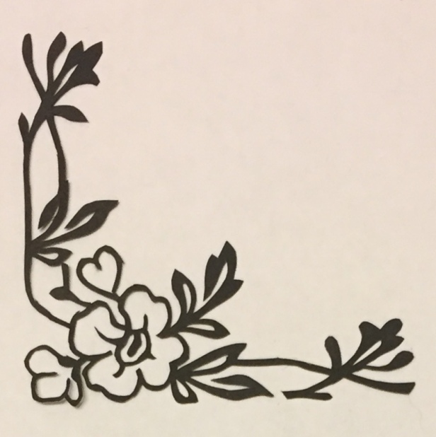 Latest papercutting designs - corner flower