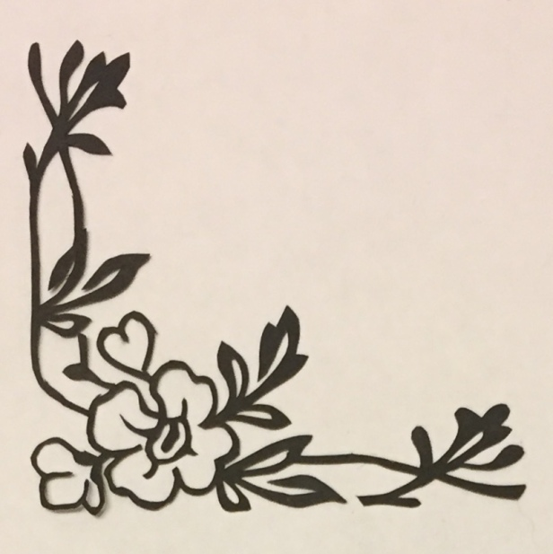 Latest papercutting designs - corner flower