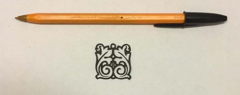 art nouveau papercut 030 with pen for scale