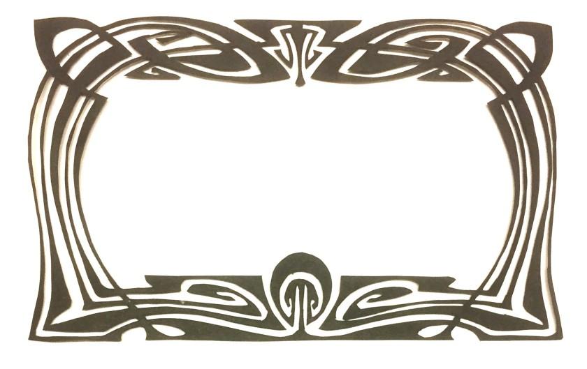 art nouveau style papercut 042