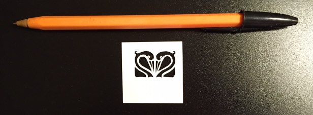 papercut 063 with pen for scale - Kay Vincent - LaserSister